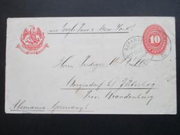 Mexiko 1893 GA Umschlag Durango - Jüterborg An Einen Prediger. Via Eagle Post ?!? New York - Mexiko