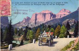 La Strada Delle Dolomiti Sul Passo Di Pordoi (2250m) Col Gruppo Di Sella - Trento