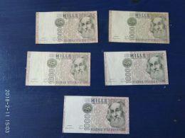 5 Banconote Da 1000 Lire  Marco Polo - [ 2] 1946-… : Républic