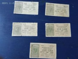 5 Banconote Da 2 Lire - [ 1] …-1946: Königreich