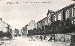 Welkenraedt - Rue De L'école Et Maison Communale (animée, 1919) - Welkenraedt