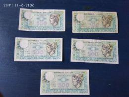 5 Banconote Da 500 Lire - [ 2] 1946-… : Repubblica