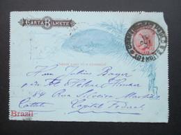 Brasilien Kartenbrief Carta Bilhete. Capital Federal. Ambulante - Cartas