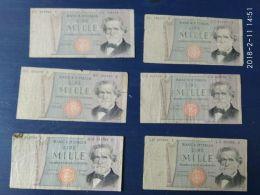6 Banconote Da 1000 Lire Giuseppe Verdi - [ 2] 1946-… : République