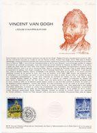 - Document Philatélique Officiel PARIS 27.10.1979 - Peintre VINCENT VAN GOGH - L'EGLISE D'AUVERS-SUR-OISE - - FDC