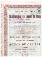 Action Ancienne - Société Nouvelle Des Charbonnages Du Levant De Mons - Titre De 1926 - Mines