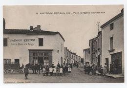 HAUTE-GOULAINE (Loire-Inf.) - Place De L'Eglise Et Grande Rue - Fiacre Attelé - Belle Animation - N°15- TTB. - Haute-Goulaine
