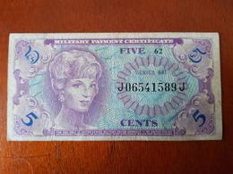 Military Payment Certificate Five Cents Guerre Du Vietnam ? Série 641 1965-1968 Viet-Nam - Certificados De Pagos Militares (1946-1973)