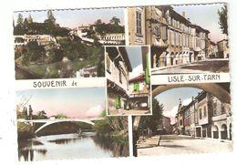 CPA 81 LISLE Sur TARN Multivues Fortifications Avenue Albi Pont Neuf Ancienne Mairie Rue Ancienne - Lisle Sur Tarn