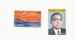 Mauritius  2017 Golden Jubillee Of Bank And Centenary Constantin Singles MNH - Mauritius (1968-...)