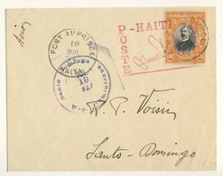 (C01) - HAITI - FIRST FLIGHT COVER PORT AU PRINCE => SANTO DOMINGO 1927 - Haiti