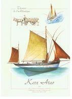 THONIERS DE L ATLANTIQUE  KERZ ATEO   1928    CARTE GRAND FORMAT GEANTE  ****   A   SAISIR **** - Pêche