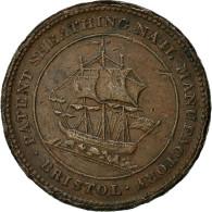 Token, Grande-Bretagne, Gloucestershire, Penny Token, 1811, Bristol, TTB - 1662-1816 : Anciennes Frappes Fin XVII° - Début XIX° S.