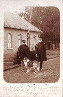 Camp Carte Photo 1903 Animée Chien - Leopoldsburg (Kamp Van Beverloo)