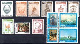 PERU, Stamps Of 1984,Marine,Cultur, Mint - Peru