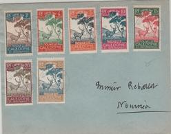 7 Chiffres Taxe Calédonie Oblitérés Nouméa 1960 - Lettre Brief Cover - Covers & Documents