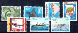 PERU, Stamps Of 1983,ships,airplane, Mint - Peru