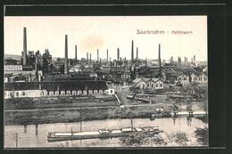 AK Saarbrücken, Blick Auf Das Hüttenwerk - Saarbruecken