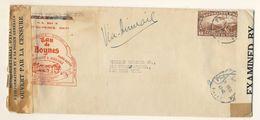 (C11) - HAITI - DOUBLE CENSORED ILLUSTRATED AIR MAIL COVER P AU P => USA 1942 - EAU DE BOYNES - RADIOACTIVITE - Haiti