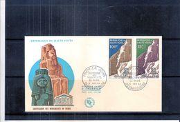 Unesco - Sauvegarde Des Monuments De Nubie - FDC Haute-Volta - Série Complète - UNESCO