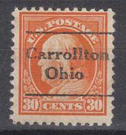 USA Precancel Vorausentwertung Preo, Locals Ohio, Carrollton L-1 TS, Perf. 11x11 - Vereinigte Staaten