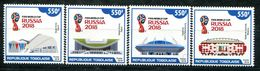 TOGO 2018 FIFA WORLD CUP FOOTBALL SOCCER RUSSIA 2018 SET MNH - World Cup
