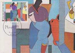 Carte  Maximum  1er  Jour  Oeuvre  D' Alberto  MAGNELLI   1986 - Cartes-Maximum