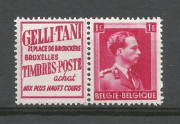 PU 147**, Gelli-Tani Timbres Poste, Timbre N° 528 Léopold III, 1F Carmin. - Publicités