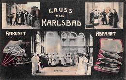 Gruss Aus Karlsbad - Ankunft - Abfahrt - Sprudel - Eau - Autriche