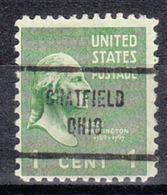 USA Precancel Vorausentwertung Preo, Locals Ohio, Chatfield 713 - Vereinigte Staaten