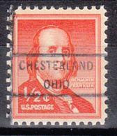 USA Precancel Vorausentwertung Preo, Locals Ohio, Chesterland 825 - Vereinigte Staaten