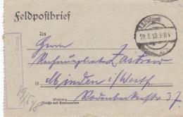 Feldpost WW1: Infanterie Regiment 398 P/m 20.5.1918 - Letter Inside. Fighting North Of Ailette  (G89-5) - Militaria