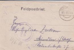 Feldpost WW1: Infanterie Regiment 398 P/m 10.7.1918 - Letter Inside. Battles Around Aisne And Marne  (G89-5) - Militaria
