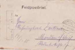 Feldpost WW1: Infanterie Regiment 398 P/m 14.7.1918 - Letter Inside. Battles Around Aisne And Marne  (G89-5) - Militaria