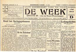 Turnhout DE WEEK  4 SEPT 1943 MET PLAATSELIJK NIEUWS Brasschaat Loenhout Ekeren Verkopen Enz... - Revues & Journaux