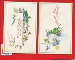 VALENCIENNES Manufacture Chicorée Henri Facq 1890 Chrromo Calendrier  Scindée En Deux - Calendriers