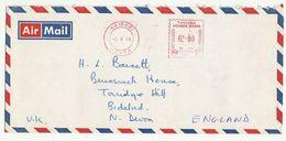1976 Nairobi KENYA COVER METER N531 Stamps To GB Kenya Uganda Tanzania - Kenya, Uganda & Tanganyika