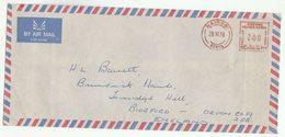 1978 Nairobi KENYA COVER METER Ne409 Stamps To GB Kenya Uganda Tanzania - Kenya, Uganda & Tanganyika