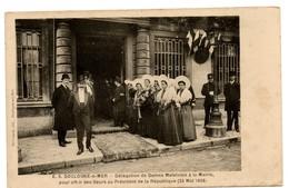 (62) BOULOGNE SUR MER: Délégation De Dames Matelotes à La Mairie. 25 Mai 1908 - Boulogne Sur Mer