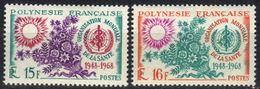 Polynésie N° 60, 61 *, Organisation Mondiale De La Santé, à 15% De La Cote - Französisch-Polynesien