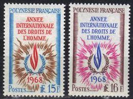 Polynésie N° 62, 63 *, Droits De L'homme, à 15% De La Cote - Französisch-Polynesien