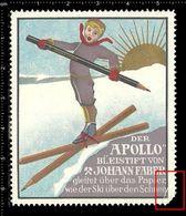 German Poster Stamp, Reklamemarke, Cinderella, Der Apollo Bleistift Von Johann Faber, The Apollo Pencil Of Johann Faber. - Cinderellas