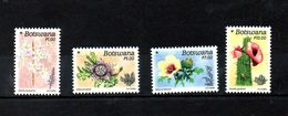 BOTSWANA, 2017, DESERT FLOWERS,  4v MNH**NEW!! - Végétaux