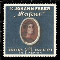 German Poster Stamp, Reklamemarke, Cinderella, Johann Faber, Rafael, Bester Bleistift, Best Pencil. - Erinnofilia