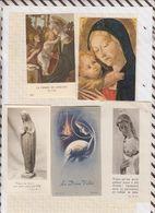 8AK39 IMAGE PIEUSE RELIGIEUSE Lot 8 Pieces VIERGE ENFANT  2 SCANS - Images Religieuses