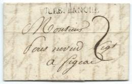 MP VILLEFRANCHE DE ROUERGUE AVEYRON / 1810 / POUR FIGEAC - Storia Postale
