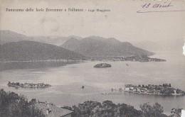 Italie - Panorama Delle Isole Borromee E Pallanza - Cachet Hôtel Metropole - 1909 - Verbania
