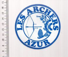 REF 10 : Autocollant Sticker Thème TIR A L'ARC Archerie Archer Compagnie Club AZUR - Tiro Con L'Arco