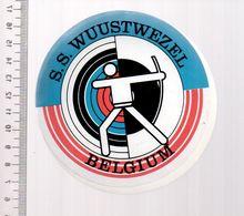 REF 10 : Autocollant Sticker Thème TIR A L'ARC Archerie Archer Compagnie Club Beligue Wuustwezel - Archery