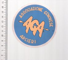 REF 10 : Autocollant Sticker Thème TIR A L'ARC Archerie Archer Compagnie Club Arcieri Genovese - Tir à L'Arc